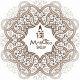 logo z arabeską_na zielone tło